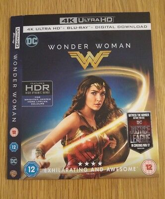 Replacement Slipcover For Wonder Woman 4K Uhd Blu-Ray **card Sleeve Only**
