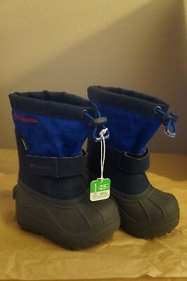 NEW Columbia Powderbug Plus II Toddler Boys' Waterproof Winter Boots in Blue