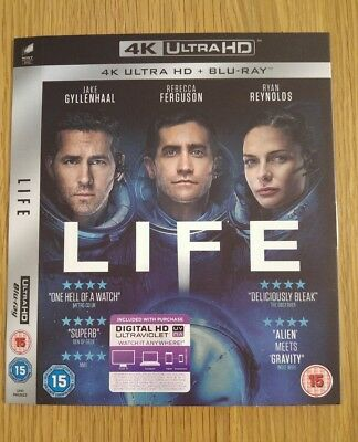 Replacement Slipcover For Life 4K Uhd Blu-Ray **card Sleeve Only**