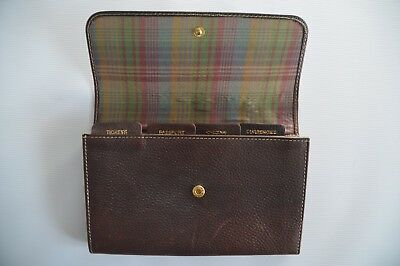 Mulberry Large Brown Grainy Leather Document Holder / Organiser - 100% Authentic