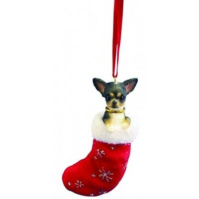 Chihuahua Black Santa's Little Pals Dog Christmas Ornament