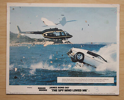 084 The Spy Who Loved Me 1977 British Front Of House Lobby Card James Bond 03