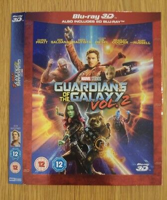 Replacement Slipcover For Guardians Of The Galaxy 2 3D Blu-Ray, Card Sleeve Only