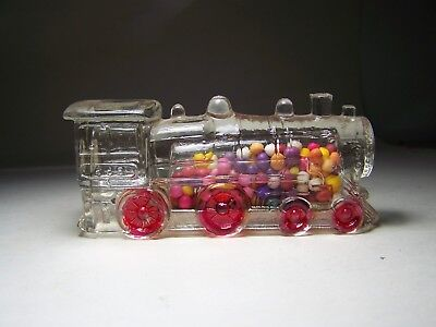 Locomotive Double Window 888 Glass Candy Container