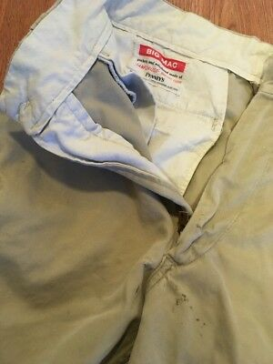 Vintage 1950's Penneys Big Mac Sanforized Chino Work Pants Distressed Cotton