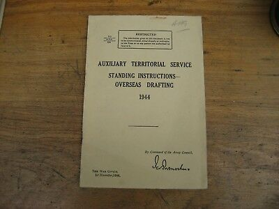 1944 ATS Standing Orders for Overseas Drafting manual