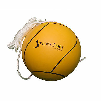 Sterling Sports Classic Yellow Tetherball 11ft Nylon attached Rop, Soft Rubber