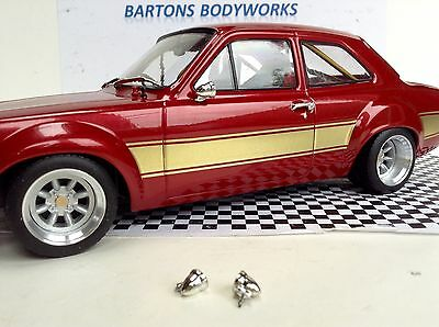 1:18 Triple 9 Escort X2 Pair Of Chrome Bullet Door Mirrors Rally  New MODIFIED