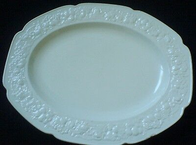 Crown Ducal Ivory White 16 inch Oval Plate