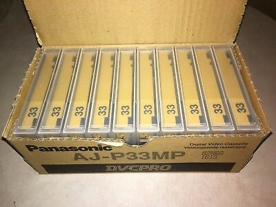New Box of (10) Panasonic Digital Video Cassettes - DVCPRO AJ-P33MP