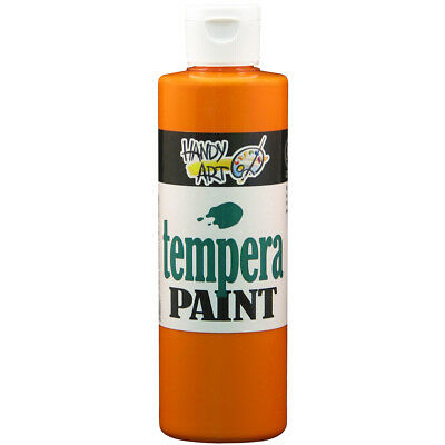Handy Art Tempera Paint 8oz Orange 206-015