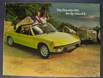 1973 Porsche 914 Sales Brochure Folder 914S Excellent Original 73