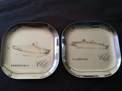 Vintage COSTA LINE ITALY STAINLESS STEEL DISH TRAY FEDERICO COSTA RIVIERA SPAIN