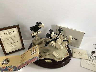 Walt Disney Steamboat Willie by Giuseppe Armani Italy w/ CoA Brand New 562/1000