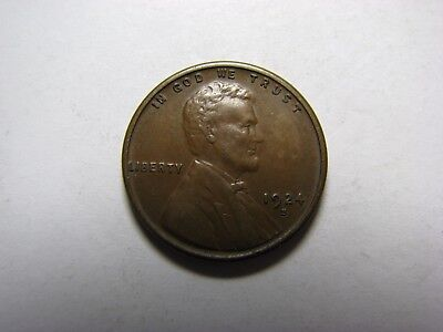 1924-S Lincoln Wheat Cent <>  Very Fine <> VF