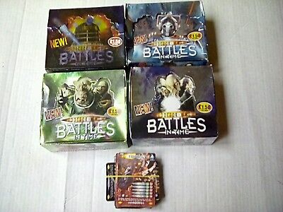 Doctor who battles in time super rare cards box