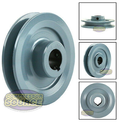 "4"" Cast Iron 7/8"" Shaft Pulley Sheave Single 1 Groove V Style A Belt 4L New"