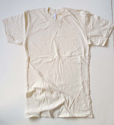 9 x Supersoft Organic Cotton Tees by American Apparel. Mens Size Small S. Cream.