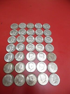 Kennedy 1964 Half Dollars 35 Total Coins In Holders