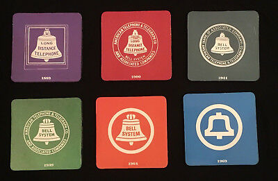 AT&T Bell System Vintage-style Logo Drink Coasters