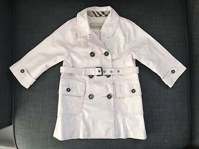 Baby Girl Burberry Coat/Mac in Light Pink - 18 Months - Excellent Condition