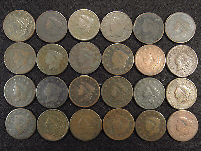 24 Large Cents CULLS 1830's + Earlier