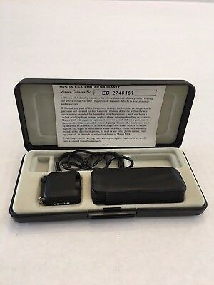 Minox EC Vintage Subminiature Spy Camera With Case and Flash Cube Attachment