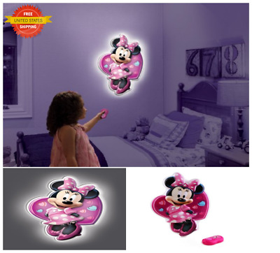 13u0027u0027 Wall Friends Minnie Mouse Lamp LED 3D Night Light Lightning Gift For  Xmas