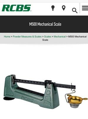 RCBS Model M500 Mechanical Reloading Scale