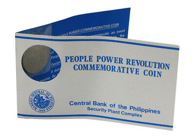 Philippines 10 Piso, 22 g Pure Nickel Coin, 1988, Mint, People Power Revolution