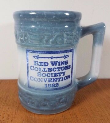 RED WING Pottery COLLECTORS SOCIETY 1982 COMMEMORATIVE CHERRYBAND MUG Redwing