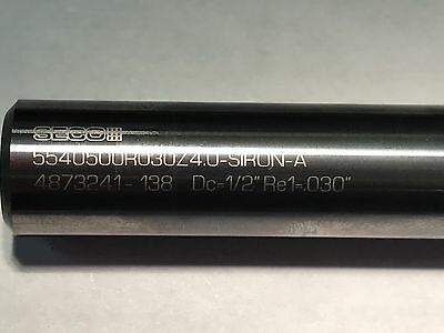 """2 pc lot SECO 1/2"""" Carbide End Mills Free Shipping"""