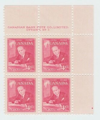 Canada Mint Stamps Block of 4 MNH - Prime Minister W.L.M. King - 1951