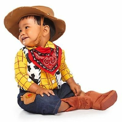 NWT Disney Store Sheriff Woody Baby Costume Toy Story Halloween 6-12-18-24M