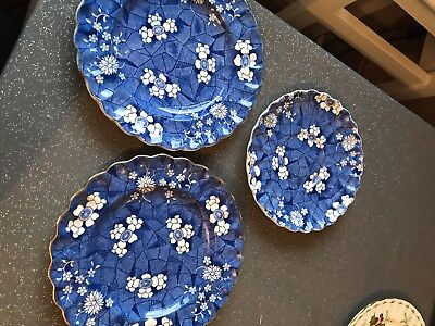 Spode Tea Plates Blue Pattern