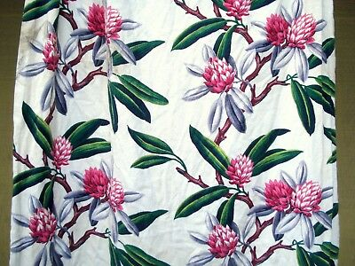 Vtg 40's 50's Tropical flower floral Drape hotel Curtain