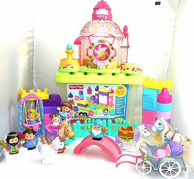 Fisher Price Little People Castle & Blocks Lot & Peoples + Animals & Accessories