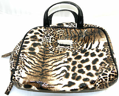 Vtg Kenneth Cole Reaction Perfume Cosmetic Leopard Bag 9 X 7.5 X 2.5""