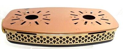 Beautiful Vintage Dish Copper Food Warmer Dual Candles
