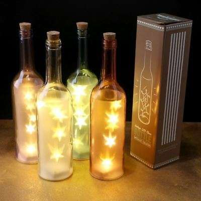 Retro de color Decorativo Vintage  Botella con LED