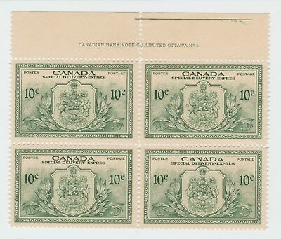 Canada Mint Stamps - Block of 4 - MNH - 10c - Special Delivery - 1946