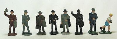 American Flyer vintage lead toy train figures S gauge male passengers lot of 8