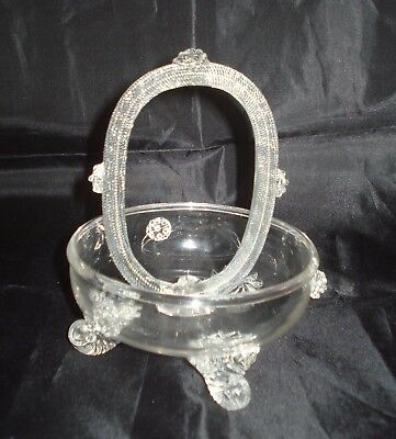 A Stourbridge Crystal Glass Venetian Style Rope Twist Flower Bowl Circa 1870