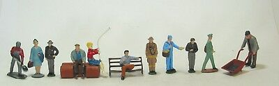 American Flyer scale lead toy train figures S gauge people, workers 11 pcs