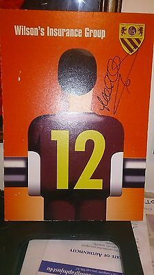 Former Manchester United / England Lee Sharpe Signed table place card