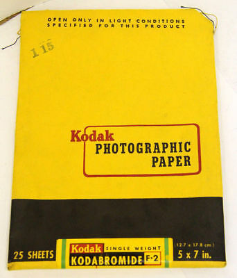 Kodak Photographic Paper 5x7 in. -  EXP 1955 - 34 Sheets