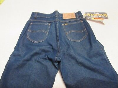 Nwt Vintage Ms Lee Juniors Stretch Denim Jeans Size 30W 34L High Waist Nos