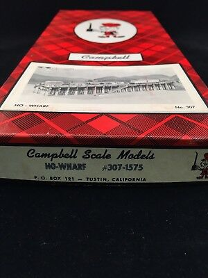 Campbell Scale Models No. 307 Wharf HO FSM Scale Never Opened NIOB