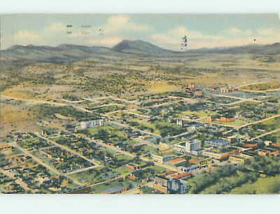 Linen AERIAL VIEW Silver City New Mexico NM hs8440