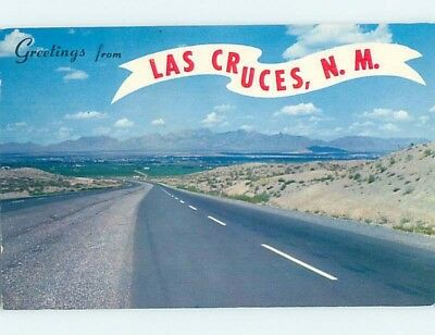 Pre-1980 GREETINGS FROM POSTCARD Las Cruces New Mexico NM ho5614